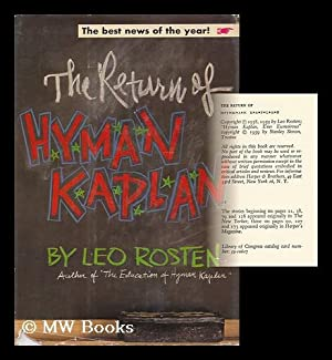 The Return of Hyman Kaplan / Leo Rosten: Rosten, Leo (1908- )