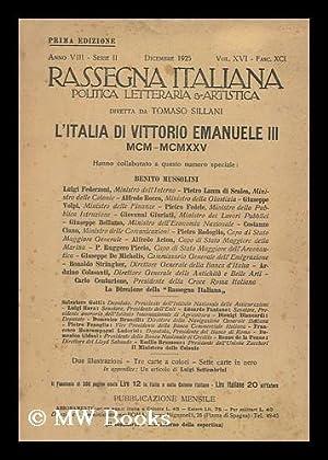 Rassegna Italiana : Politica, Letteraria E Artistica : Descrizione Basata Su A. 8, Ser. 2, Vol. 16,...