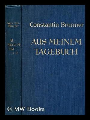 Aus Meinem Tagebuch: Brunner, Constantin, (1862-1937)