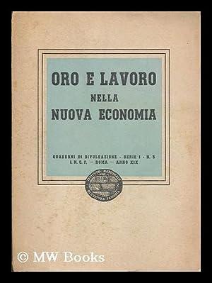 Oro e lavoro nella nuova economia: Istituto nazionale di cultura fascista
