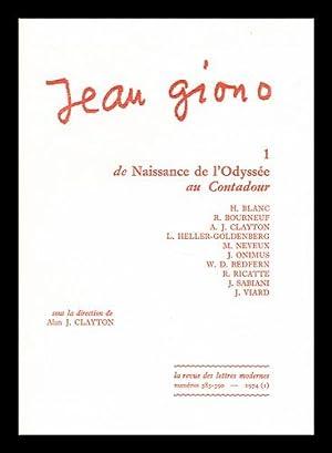 Jean Giono. 1 , De Naissance de: Giono, Jean (1895-1970)