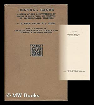 Central Banks : a Study of the: Kisch, Cecil Hermann
