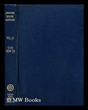 Jewish Book Annual; 5719 - 1958 -: Jewish Book Council