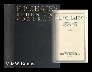 H. P. Chajes : Reden und Vortrage / herausgegeben von Moritz Rosenfeld: Chajes, Hirsch Perez (...
