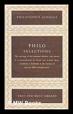 Philosophical writings: Philo: Lewy, Hans (Edited)