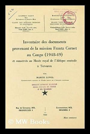 Inventaire des documents provenant de la mission: Musee royal de