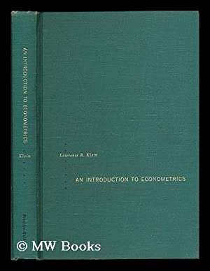 An introduction to econometrics: Klein, Lawrence Robert
