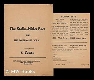The Stalin-Hitler Pact and the imperialist war: Revolutionary Workers League of the U.S.