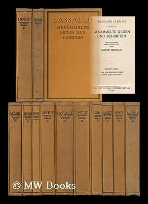 Gesammelte Reden und Schriften : herausgegben und eingeleitet von Eduard Bernstein [vollstandige ...