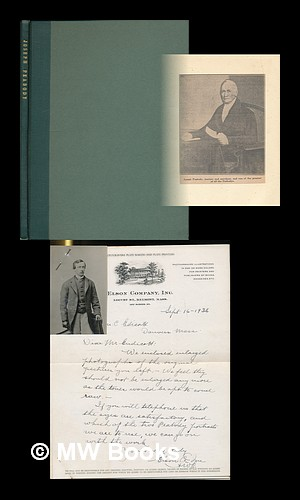 A Small Archive of Original Manuscript Letters [Correspondence With Elson Company Plate and ...
