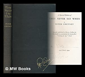 They never say when : a novel: Cheyney, Peter (1896-1951)