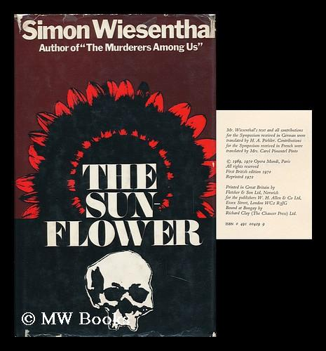 the challenges of forgiving in the sunflower a novel by simon wiesenthal Explore vagrant sylphs's board recovery on pinterest | see more ideas about amazon, books to read and libros.