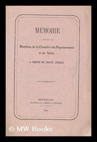 Memoire A Messieurs Les Membres De La Chambre Des