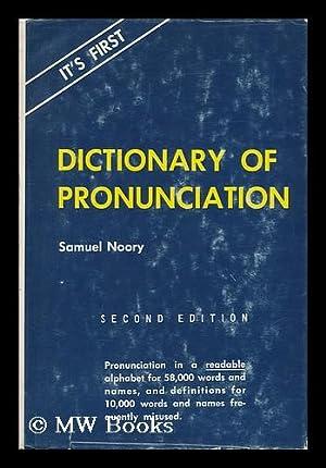 Dictionary of Pronunciation: Noory, Samuel (1910-)