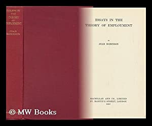 Essays in the Theory of Employment /: Robinson, Joan