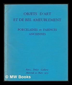 Objets d'art et de bel ameublement principalement: Ader, Antoine. Ader,