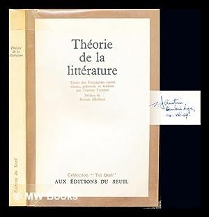 Théorie de la littérature : textes des: Todorov, Tzvetan (1939-2017).