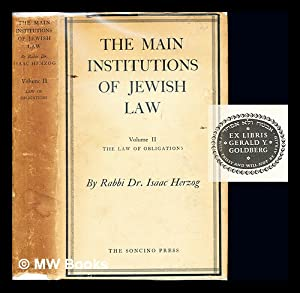 The main institutions of Jewish law. Vol.: Herzog, Isaac (1888-1959)