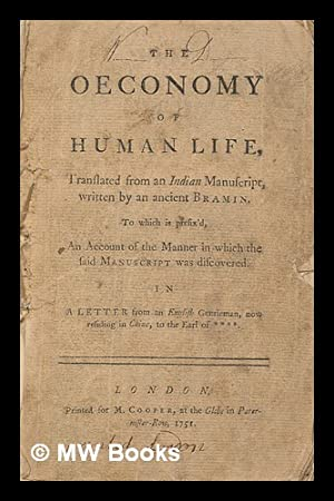 The oeconomy of human life : translated: Chesterfield, Philip Dormer