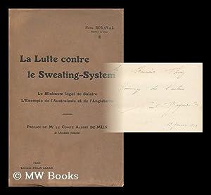 La Lutte Contre Le Sweating-System. Le Minimum: Boyaval, Paul