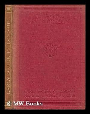 Early Greek philosophy / by Alfred William Benn: Benn, Alfred William (1843-1915)