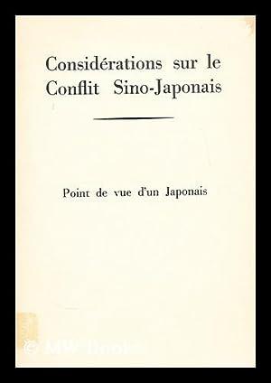 Considerations sur le conflit sino-japonais : point: Yamato, Takeo