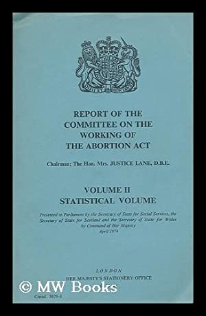 Report of the Committee on the Working: Great Britain. Committee