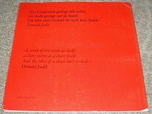 Donald Judd Mobel: Furniture: Judd, Donald; Museum Boymans-Van Beuningen; Museum Villa Stuck