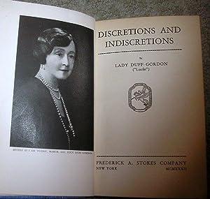 Discretions & Indiscretions: Lucy Duff Gordon