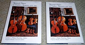 Research Papers in Violin Acoustics, 1975-1993: With: Carley Maley Hutchins,