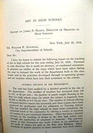 A Report on Art Teaching in the High Schools for 1915-'16: Eighteenth Annual Report of the ...