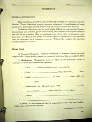Instructions for Veterinary Clients (Ring-bound): David L. Erlewein, D.V.M., Hollis H. Clark, Jr., ...