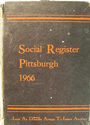 Social Register Pittsburgh 1966: Social Register Association
