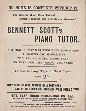 Bennett Scotts Piano Tutor, etc