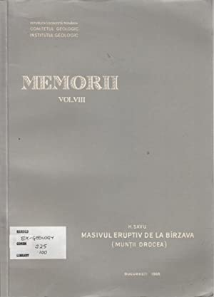 Vol VIII Masivul Eruptiv De La Birzava: H Savu