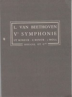 Ve SYMPHONIE UT MINEUR C Minor c: L Van Beethoven