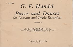 Pieces and Dances for Descant and Treble Recorders Volume 1