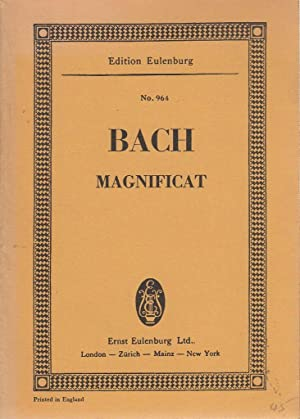 Magnificat miniature score Edition Eulenburg No 964