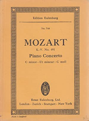 Concerto fo 2 Pianos, C minor, Edition Eulenburg No. 731,