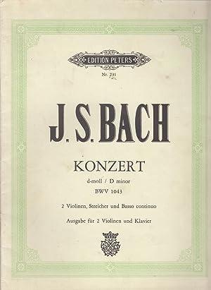 Violin-Konzerte . für Pianoforte u. Violine. Herausgegeben: Johann Sebastian Bach