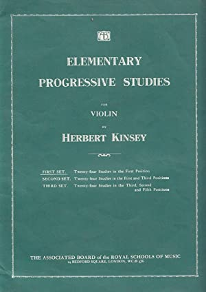Elementary Progressive Studies for Violin. First Set - Twenty-four Studies in the First Position