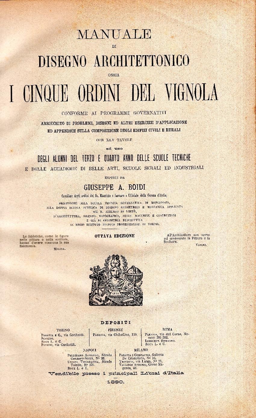 Manuale Di Disegno Architettonico.Manuale Di Disegno Architettonico Ossia I