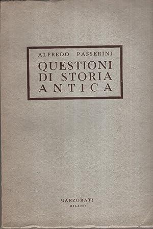 Questioni di storia antica. In appendice: La: Passerini Alfredo