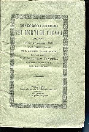 Discorso funebre pei morti di Vienna recitato: VENTURA GIOACCHINO