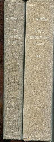 Istituzioni di diritto amministrativo italiano. Volume primo: D'Alessio Francesco