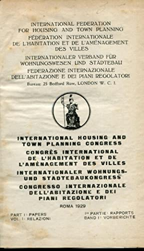 International federation for housing and town planning. Federazione internazionale dell'abitazion...