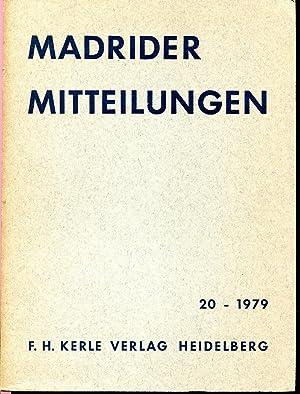 Madrider Mitteilungen Band 20 ? 1979: Deutsches Archäologisches Institut