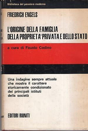 L'origine Della Famiglia Della proprietà Privata e: Engels Friedrich