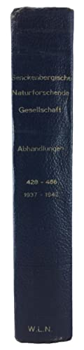 Senckenberg Naturforschende Gesellschaft Abhandlungen, no. 435, 442, 449, 451, 462, 465, 466 (7 ...
