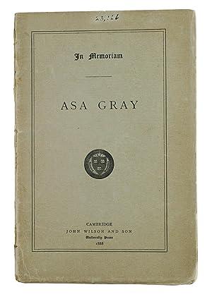 IN MEMORIAN: ASA GRAY.: Gray, Asa
